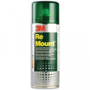 3M ReMount Adhesive Repositionable Spray Can CFC-Free 400ml Ref GS200018983