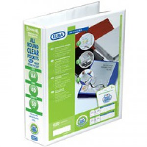 Elba Panorama 4D Ring Binder A4 Wht P10