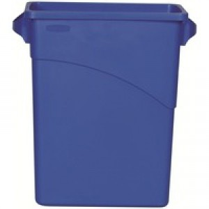 Rubbermaid Blue Slim Jim Container 60Ltr