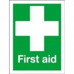 First Aid 150x110mm Self-Adh Sign