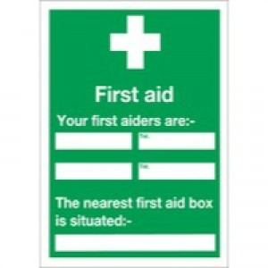 First Aid 60x45cm PVC Sign