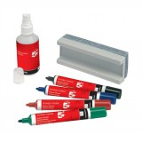 Image for 5 Star Drywipe Starter Kit of Drywipe Eraser and 100ml Cleaner and 4 Whiteboard Markers Assorted