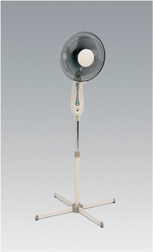 5 Star Facilities Pedestal Fan Floor-standing Tilt and Lock 48.5Db 3-Speed H1180-1400mm Dia.406mm