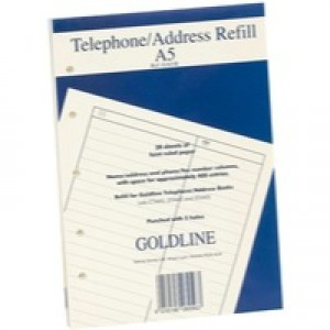 Image for Guildhall Address Book Rfl Fnt A5 GA5/R