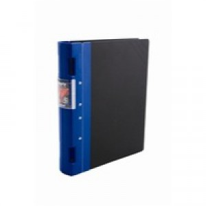 Guildhall GL Ergogrip Binder Capacity 400 Sheets 2x 2 Prong 55mm A4 Blue Ref 4509Z [Pack 2]