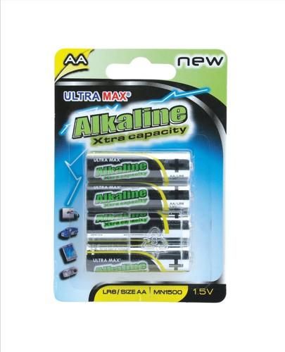 5 Star Value Alkaline Batteries AA [Pack 4]