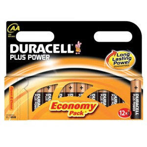 Duracell Plus Power Battery Size AA Pk12