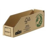Image for Fellowes Basics Parts Bin Corrugated Fibreboard Packed Flat 76x280x102mm Ref 07352 [Pack 50]