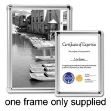 Image for Business Display Frame Aluminium Front Loading with Fixings A4
