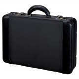 Image for Alassio Attache Case and Removable Laptop Sleeve Leather Multi-section Expandable by 20mm Black Ref 45039