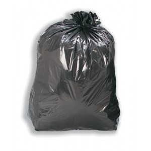 5 Star Facilities Bin Liners Recycled 110 Litre Capacity W450xD280xH950mm 17 Micron Black [Pack 200]