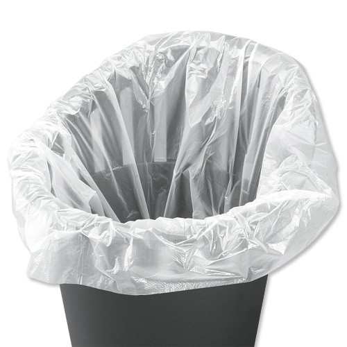 5 Star Facilities Swing Bin Liner Light Duty 40Ltr Capacity W315xD210xH710mm 7.5 Micron White [Pack 1000]