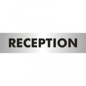 Acrylic Sign Reception Aluminium SR22364