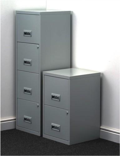 Pierre Henry Filing Cabinet Steel Lockable 4 Drawers A4 Grey Ref 095044