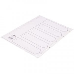Concord White Index Polypropylene 120 Micron Europunched 1-15 A4 Ref 64301