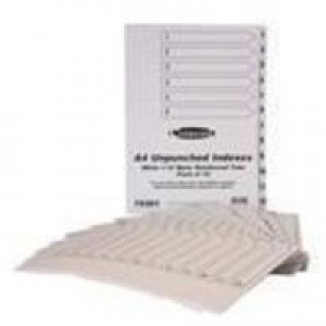 Concord Presentation Index Unpunched White Mylar Tabs 1-12 A4 White Ref 75301 [Pack 10]