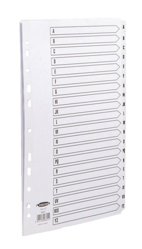 Concord Commercial Dividers Europunched 20-Part A-Z Clear Tabs A4 White Ref 08601