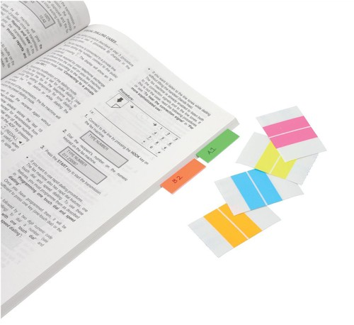 Index Tabs Self Adhesive Assorted Fluorescent 38mm [Pack 24]