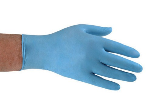 Nitrile Food Preparation Gloves Powder-free Large Size 8.5 Blue [50 Pairs]