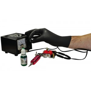 Nitrile Gloves Abrasion-resistance Rolled-cuff Large Black [Pack 100]