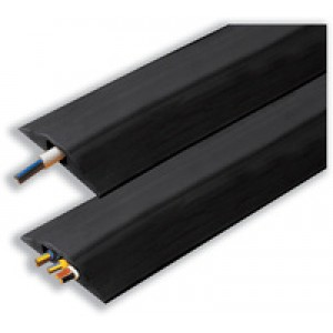 Rexel Accodata Cable Curb Rubber Single Channel 8x14mm Section 1.5m Length