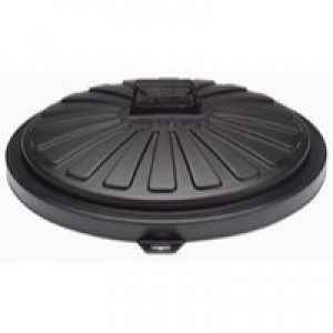 Addis Black Dustbin Lid Round 90Ltr