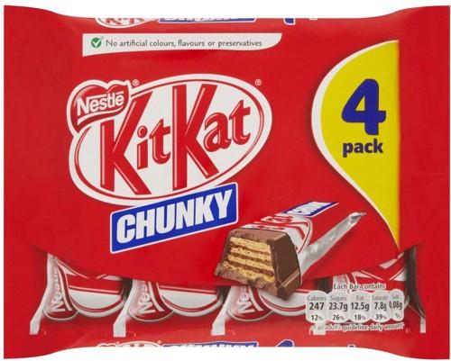 Nestle Kit Kat Chunky Ref 12166097 [Pack 4]