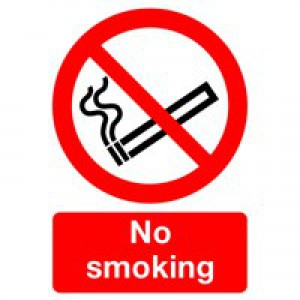 Safety Sign No Smoking A4 PVC