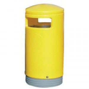 Yellow Outdoor Hooded Top 75Ltr Bin