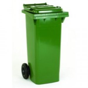 Green 2 Wheel Refuse Container 140 Ltr