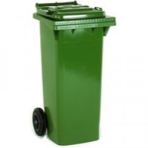 Green 2 Wheel Refuse Container 240 Ltr