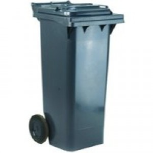 Grey 2 Wheel Refuse Container 360 Ltr