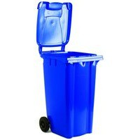 Blue 2 Wheel Refuse Container 80 Ltr