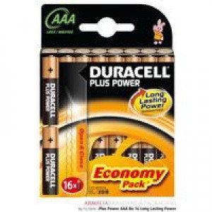 Duracell Plus AAA Battery Pk16
