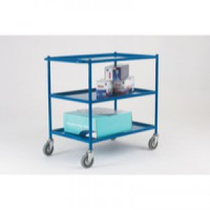 Service Blue Trolley 3-Tier 813X508mm