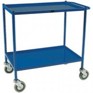 Service Blue Trolley 2-Tier 813X508mm