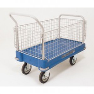 Plastic Platform Truck 2 End 2 Mesh Side