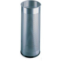 Silver Umbrella/Waste Bin Perforated