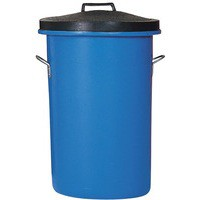 Blue 85 Ltr H Duty Coloured Dustbin