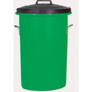 Green 85 Ltr H Duty Coloured Dustbin