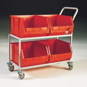 Mob Storage Trolley c/w 4 Bin Red 321297