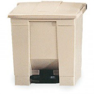 Beige Step On Waste Container 30.5 Ltr