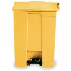 Yellow 30.5 Litre Step-On Container
