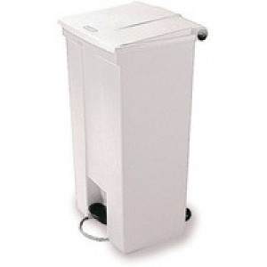 White Step On Waste Container 45.5 Ltr