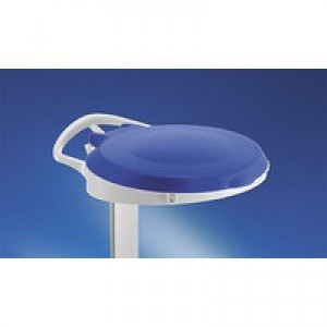 Plastic Round Lid For Smile Blue