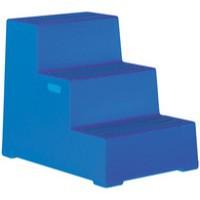 3 Step Blue Plastic Safety Step