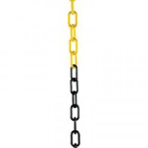 Ylw/Blk 10mm Short Link Chain 25Mtr