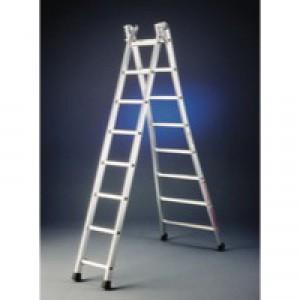 Transformable 2x12 Rungs Alum Ladder
