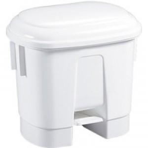 Derby 30L White Plastic Pedal Bin 348020