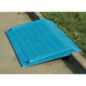 Image for FD Blue Kerb Ramp Kerb H75-150mm 355830 (0)